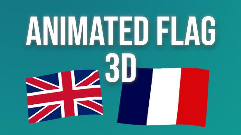 3D simple animated flag shader