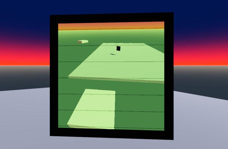Simple spatial CRT effect