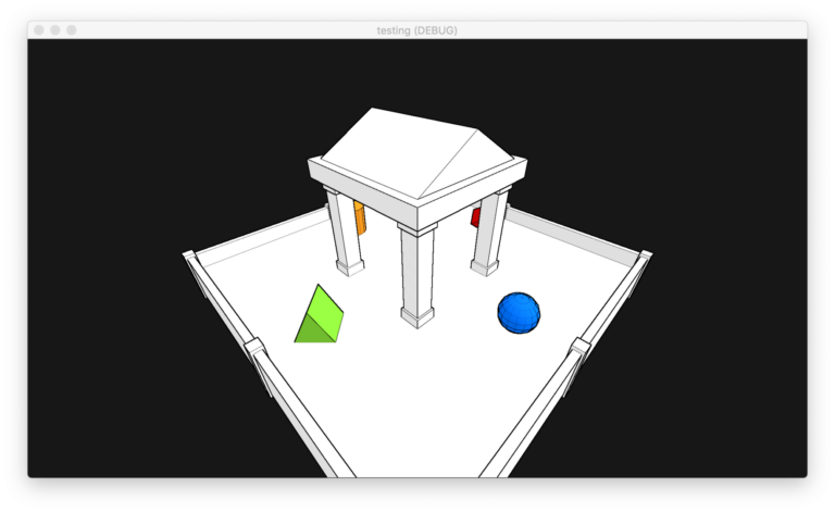 Screen-Space Edge Detection Outline Shader