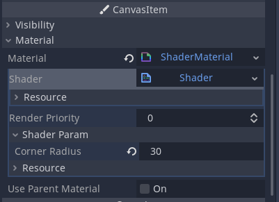 set corner radius for texture