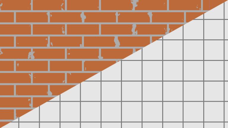 Brick/tiled wall
