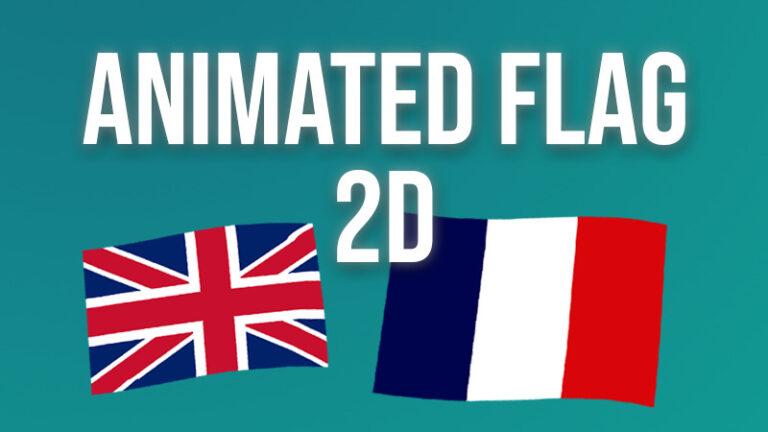 2D simple animated flag shader