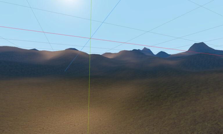 Mountain Background Shader.