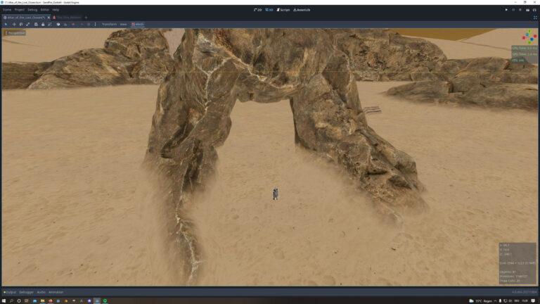 mesh-terrain blending